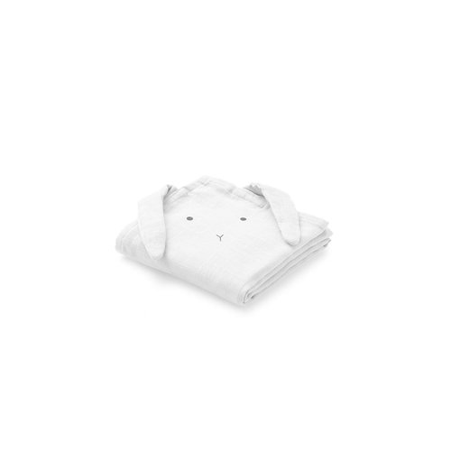 Liewood Hannah / Muslin Cloth / Rabbit / 2pack - Rabbit dumbo grey