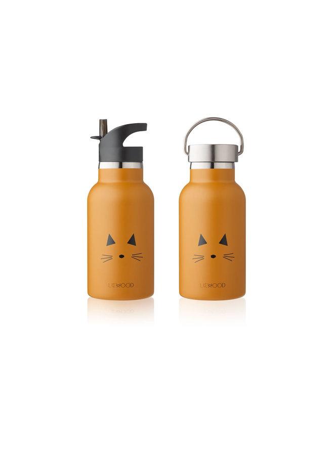 Liewood - Anker / Water Bottle - Cat mustard