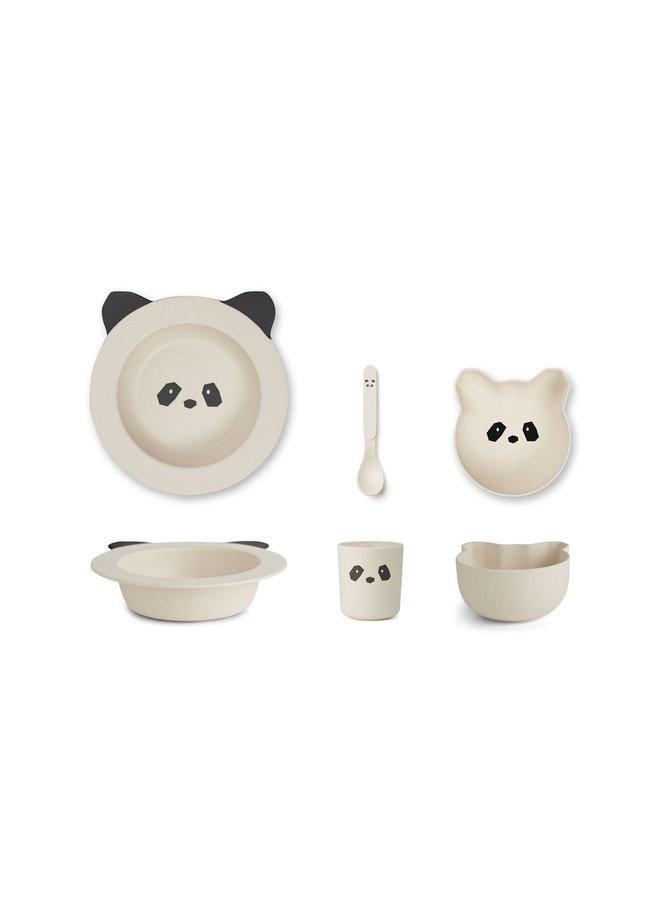 Barbara Bamboo Baby Set - Panda Creme de la Creme
