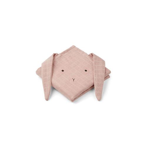 Liewood Hannah / Muslin Cloth / Rabbit / 2pack - Rabbit rose