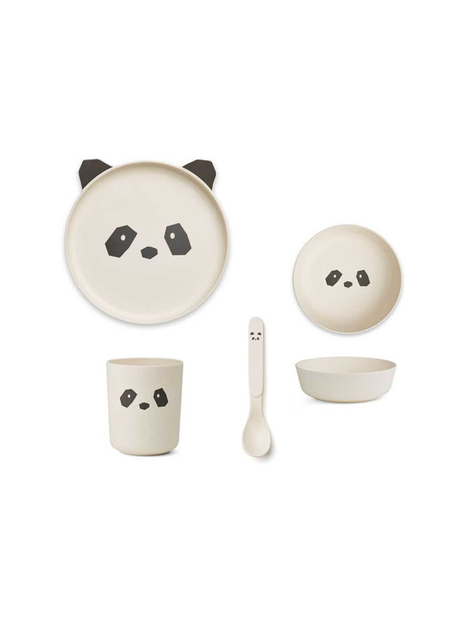 Bamboo Tableware Box Set - Panda Creme de la Creme