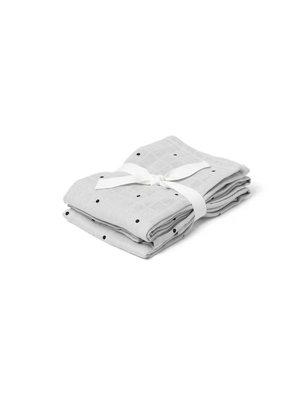 Liewood Hannah / Muslin Cloth / Print / 2pack - Classic dot dumbo grey