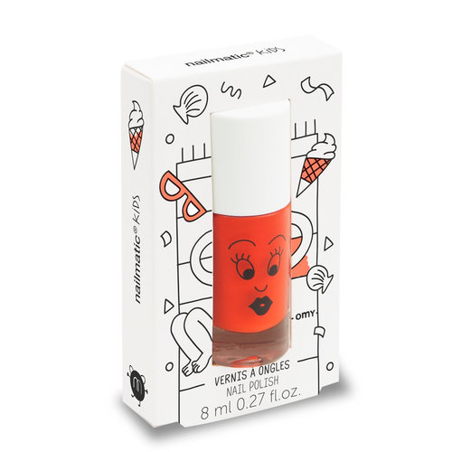 Nailmatic Water-based nail polish for kids - Dori - orange