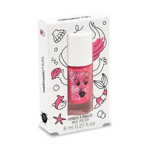 Nailmatic Water-based nail polish for children - Sissi – pink glitter