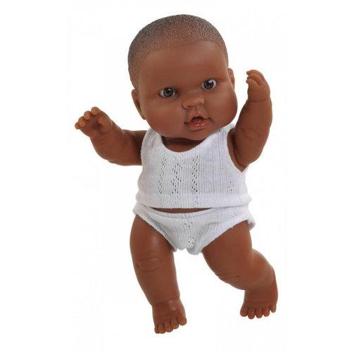 Paola Reina Puppegie donkere jongen (ondergoed/22cm)