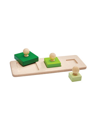 Plan Toys Vierkant vormen puzzel
