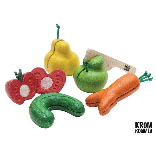 Plan Toys Snijfruit en Groente ´Kromkommer´ (5-delig)