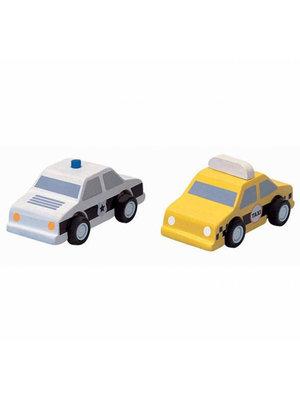 Plan Toys Taxi & Politieauto