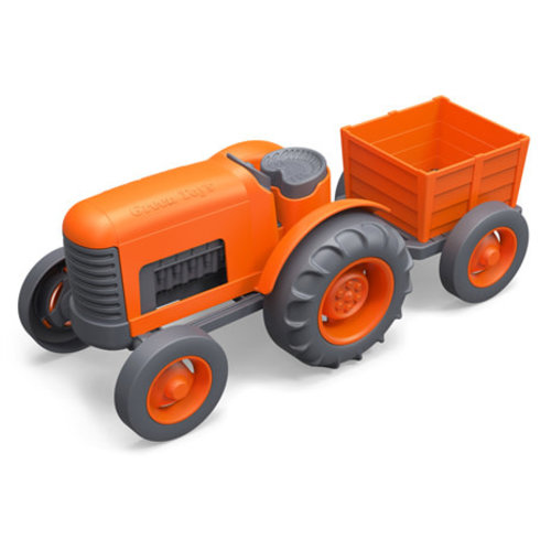Green Toys Tractor (Orange)