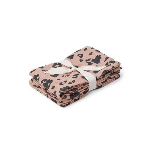 Liewood Hannah / Muslin Cloth / Print / 2pack - Leo rose