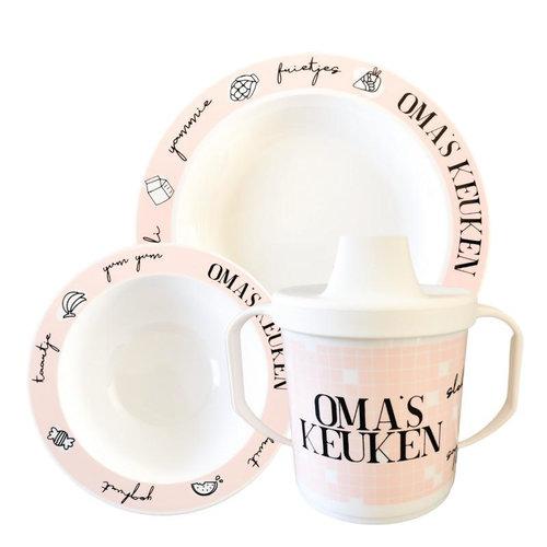 Hip & Mama Serviesset Oma's Keuken - Roze