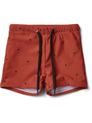Liewood Otto swim pants - Classic dot rusty