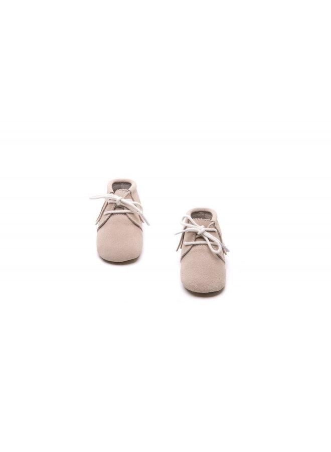 Fringe Boots - Beige