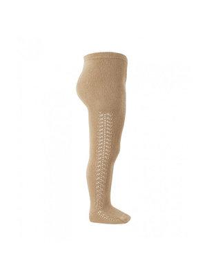 Condor Side openwork warm tights - Camel, 326