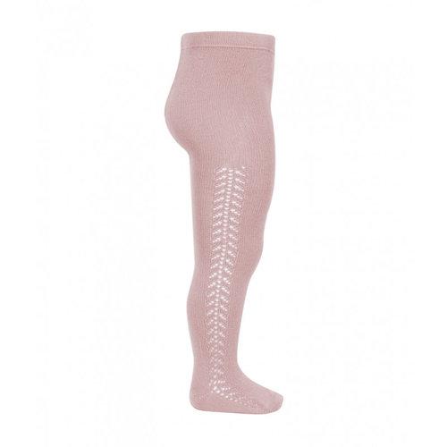 Condor Side openwork warm tights - Pale Pink, 526