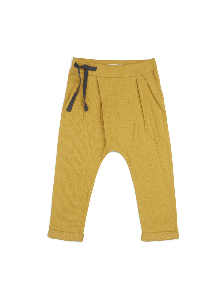 Pleated Harem Pants - Dusty Yellow