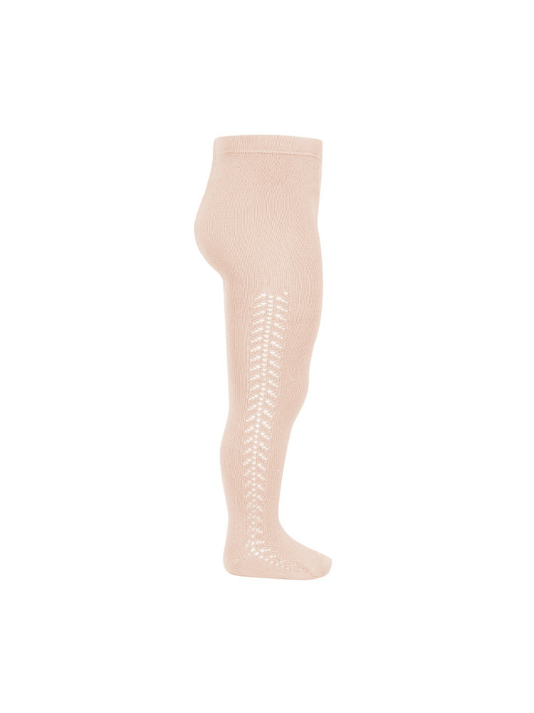 Condor Side openwork warm tights - Nude, 674