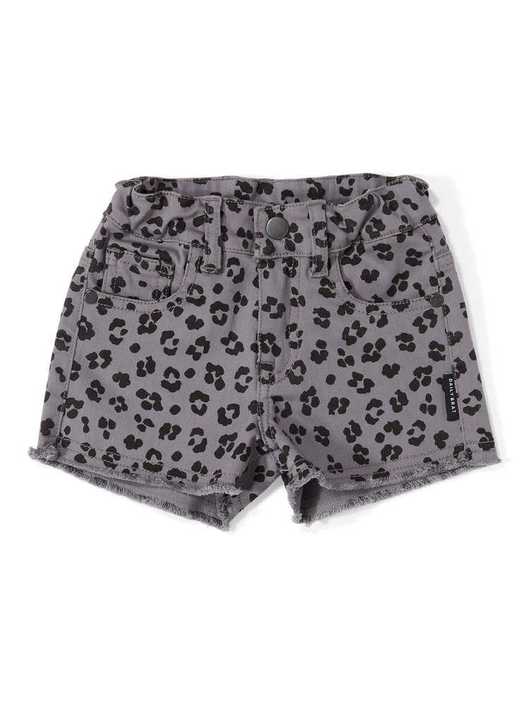 Daily Brat Riley Leopard Shorts Soft Dusk