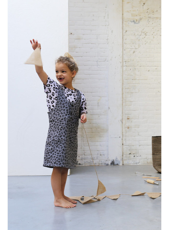 Riley Leopard Dress Soft Dusk