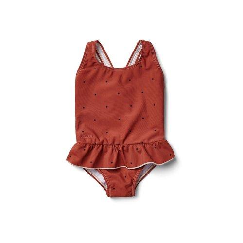 Liewood Amara swimsuit - Classic dot rusty