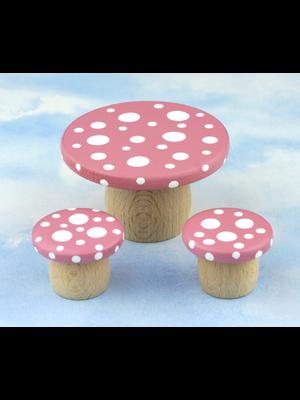 Droomdeurtjes Droomtafeltje met krukjes Elfenroze