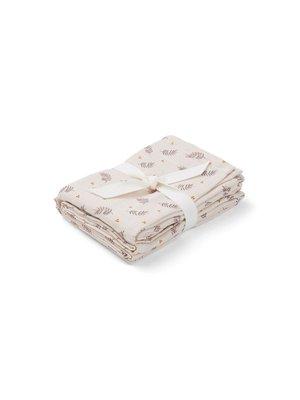 Liewood Hannah / Muslin Cloth / Print / 2-pack - Fern Rose