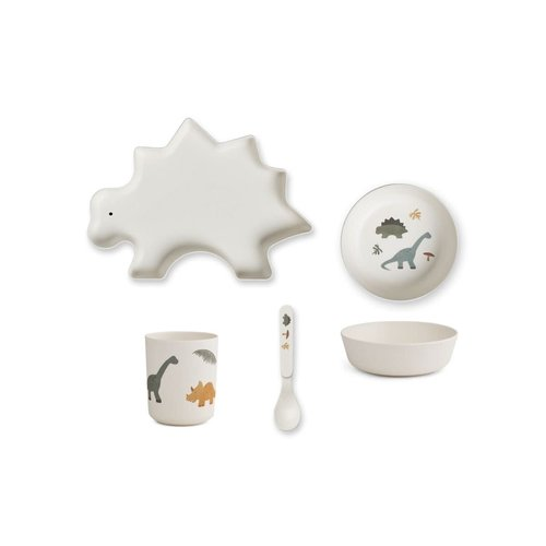 Liewood Bamboo Tableware Box Set - Dino Mix