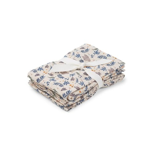 Liewood Hannah / Muslin Cloth / Print / 2-pack - Coral Floral Mix