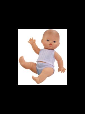 Paola Reina Pop Gordi jongen (blank), ondergoed 34cm