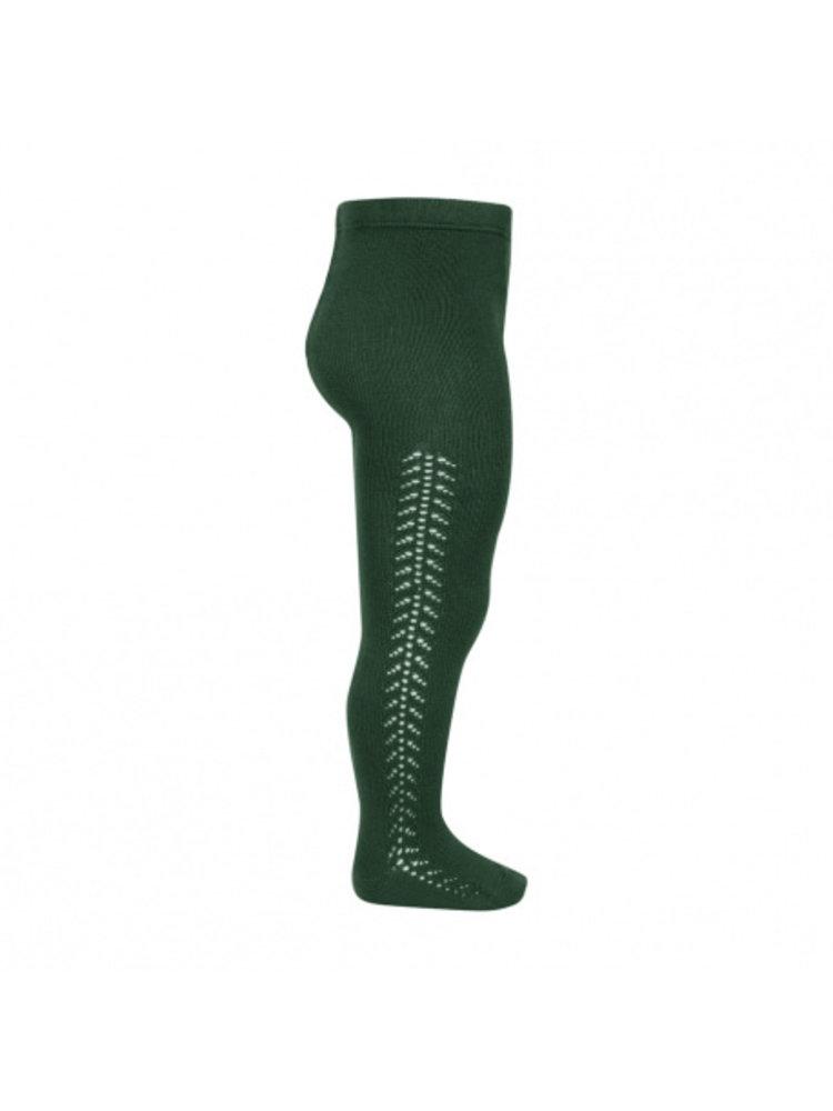 Condor Side openwork warm tights - Bottle green - 780