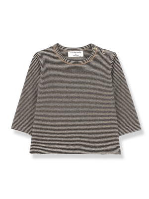 1+ in the family Liege - Long Sleeve T-Shirt - Black/Beige