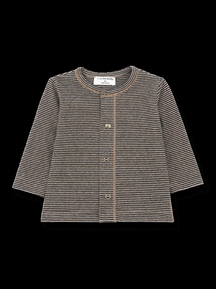 1+ in the family Namur - Open T-Shirt - Black/Beige