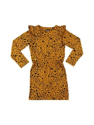 CarlijnQ Spotted Animal - Dress (Ruffled sleeves)