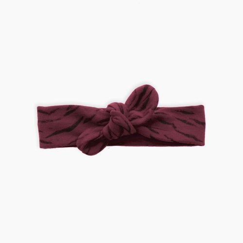 Sproet & Sprout Headband - Tiger AOP - Burgundy
