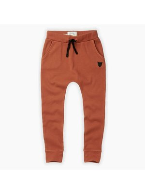 Sproet & Sprout Rib Pants Cat Badge - Ginger