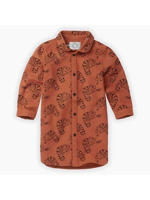 Sproet & Sprout Woven Shirt Dress Chameleon AOP - Ginger