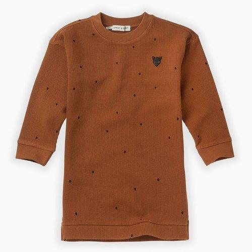 Sproet & Sprout Sweat Dress Dots - Mocha