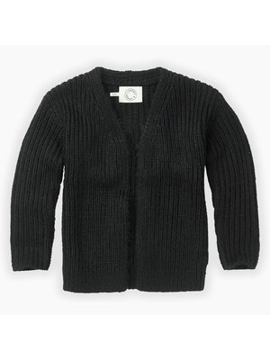 Sproet & Sprout Cardigan Panther Head - Black