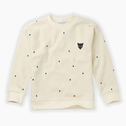 Sproet & Sprout Sweatshirt Dots -  Milk