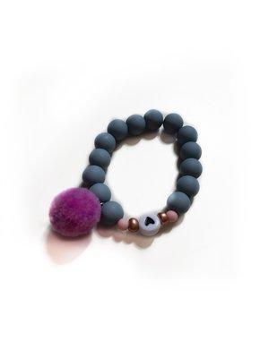 Sweet Petite Jolie Armbandje 10 - Hartje - Blauw