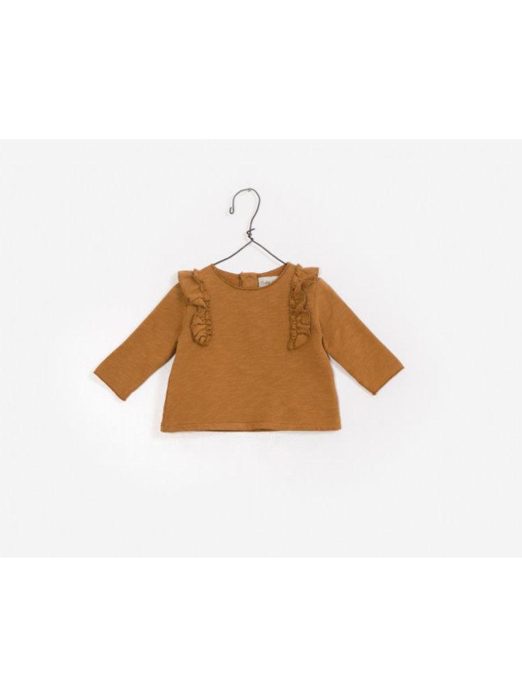 Play Up American Fleece Sweater - Caramel Ruffles