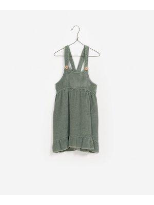 Play Up Corduroy Dungaree Skirt - Green