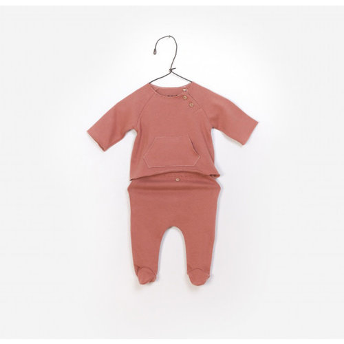 Play Up T-Shirt + Trousers - Set - Soft Red