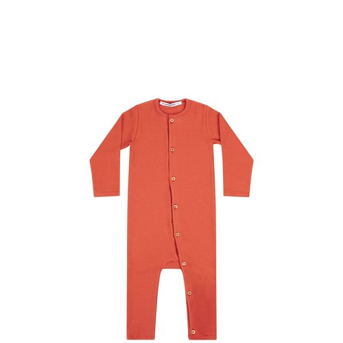 Mingo Playsuit - Rib Jersey - Red Wood