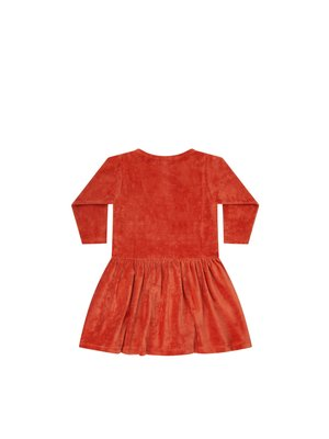 Mingo Dress - Velvet - Red Wood