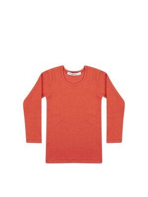 Mingo Rib Top - Rib Jersey - Red Wood