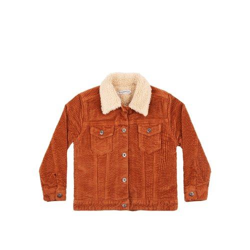 Mingo Oversized Jacket - Corduroy - Leather Brown