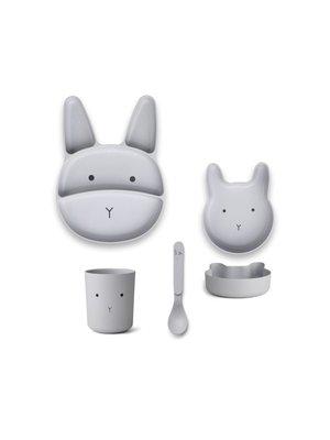 Liewood Jules Junior Bamboo Set - Rabbit Dumbo Grey