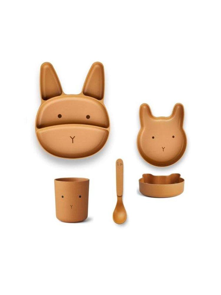 Liewood Jules Junior Bamboo Set - Rabbit Mustard