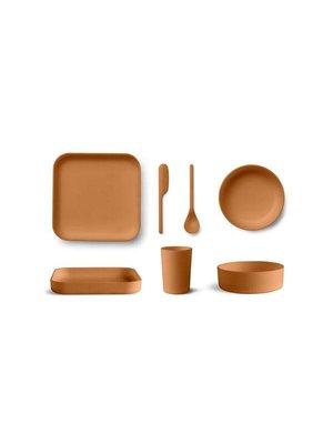 Liewood Aiko Bamboo Set - Mustard